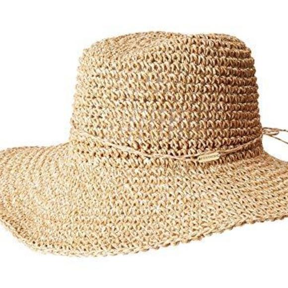 9ee1950fe STEVE MADDEN Beige Crochet Cowboy Hat With Ties Boutique
